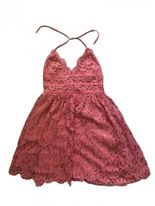 NBD Pink Cotton Dress for Women