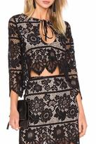 For Love & Lemons Gianna Crop Top