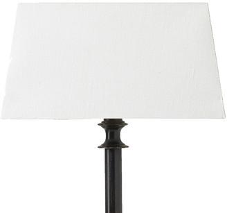 OKA 27cm Rectangular Linen Lampshade - White