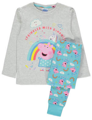George Peppa Pig Unicorn Slogan Pyjamas