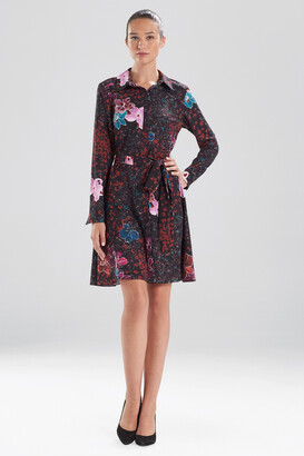 Natori Leopard Orchid Shirt Dress