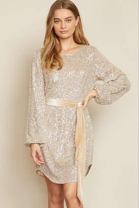 Dress Forum Sequin Sash Waist Dress
