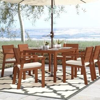 Beachcrest Home Gaeta 7 Piece Dining Set with Cushions