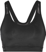 adidas by Stella McCartney Mesh-paneled stretch-ponte sports bra