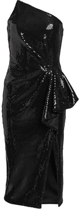 Pamella Roland Liquid Sequin Cocktail Dress