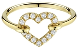 Finn Diamond Open Heart Ring