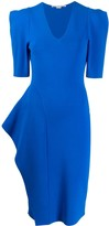 Stella McCartney structured shoulder knee-length dress