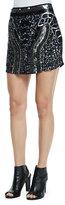 Chloe Oliver Beaded & Sequined Patterned Mini Skirt
