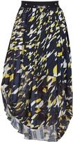 High Outset printed chiffon and jersey midi skirt