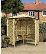 Grange Fencing Valencia Corner Arbour with Table