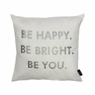 Kensie Ebern Designs Stockstill Indoor/Outdoor Throw Pillow Cover Ebern Designs Color: White Silver