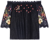 Temperley London Leo Lace Off-Shoulder Top