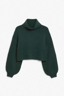Monki Cropped turtleneck knit
