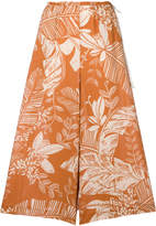 See by Chloe foliage print cropped wide leg trousers