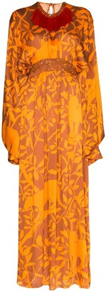 Johanna Ortiz Panther-Print Kaftan Dress