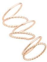 Topshop Women's Set Of 6 Simple Rings