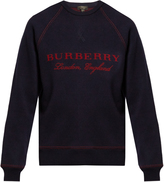 Burberry Logo-jacquard crew-neck sweater