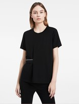 Calvin Klein Platinum Double Mercerized Gathered Top