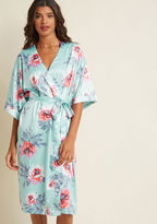 MinkPink Brews on the Balcony Robe in Aqua in XS, S - Other Wrap Long by from ModCloth