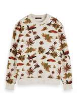 Scotch & Soda Men's All-Over Printed Sweat in Neps Felpa Quality Sweatshirt