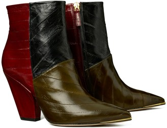 Tory Burch Lila Eel Zip-Up Ankle Boot