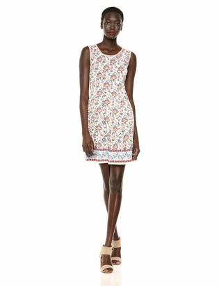 Max Studio Women's Pleated Printed Matte Jersey Dress