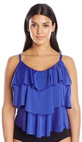 Kenneth Cole Reaction Kenneth Cole Women's Plus-Size Ruffle-Licious Ruffle-Tier Tankini