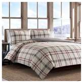 Eddie Bauer Portage Bay Plaid Duvet Cover And Sham Set Silver