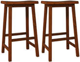 Monarch Set Of 2 Saddle Seat Bar Stools