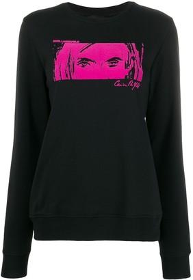 Karl Lagerfeld Paris x Carine flocked sweatshirt