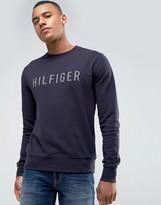 Tommy Hilfiger Ray Sweatshirt Logo Applique in Blue