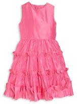 Oscar de la Renta Toddler's, Little Girl's & Girl's Taffeta Multi-Ruffle Dress