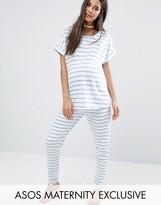 Asos Stripe Tee and Legging Pajama Set