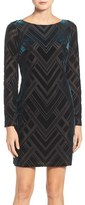 Vince Camuto Women's Burnout Velvet Sheath Dress