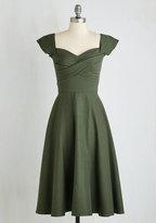 Stop Staring Pine All Mine Midi Dress in Evergreen in 4X