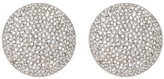 Nadri Large Round Crystal Pave Disc Clip Earrings