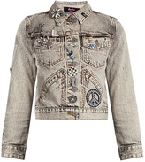 Marc Jacobs Paradise-embellished denim jacket