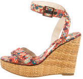 Marc Jacobs Floral Wicker Wedges