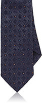 Drakes Drake's Men's Diamond Silk Necktie-NAVY