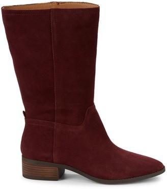 Lucky Brand Lefara Suede Stack-Heel Boots
