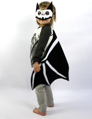 Sparrow & B Skelly Bat Felt Mask & Wings Costume Set