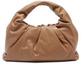 Bottega Veneta The Shoulder Pouch Small Leather Bag - Tan