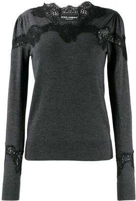 Dolce & Gabbana lace detail sweater