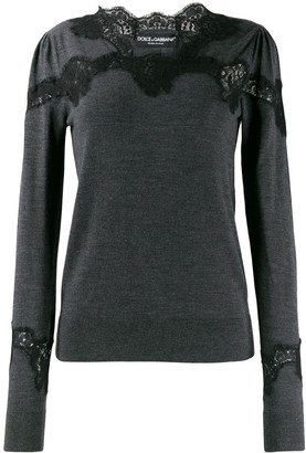 Dolce & Gabbana Lace Detail Sweater