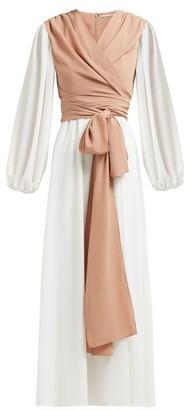 Emilia Wickstead Kiki King Wave Wrap Crepe Midi Dress - Beige Multi