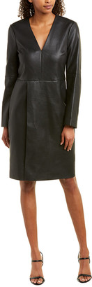 BCBGMAXAZRIA Wrap Skirt Shift Dress