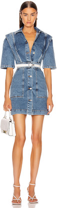 Stella McCartney Short Sleeve Denim Mini Dress in Sky Blue | FWRD