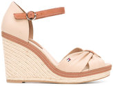Tommy Hilfiger buckled wedge sandals - women - Leather/Tactel/rubber - 36