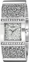 GUESS Women's U0650L1 Sparkling Silver-Tone Watch with Self-Adjsutable Bracelet