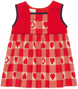 Gucci Baby G heart check cotton dress
